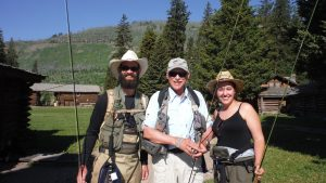 Jim Borowski, FVTU VSP Coordinator with David and Kelly Skelton at Silvertip Ranch
