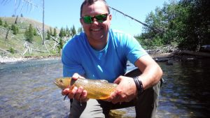Veteran Nathan Burgess and a typical Yellowstone Cutthroat